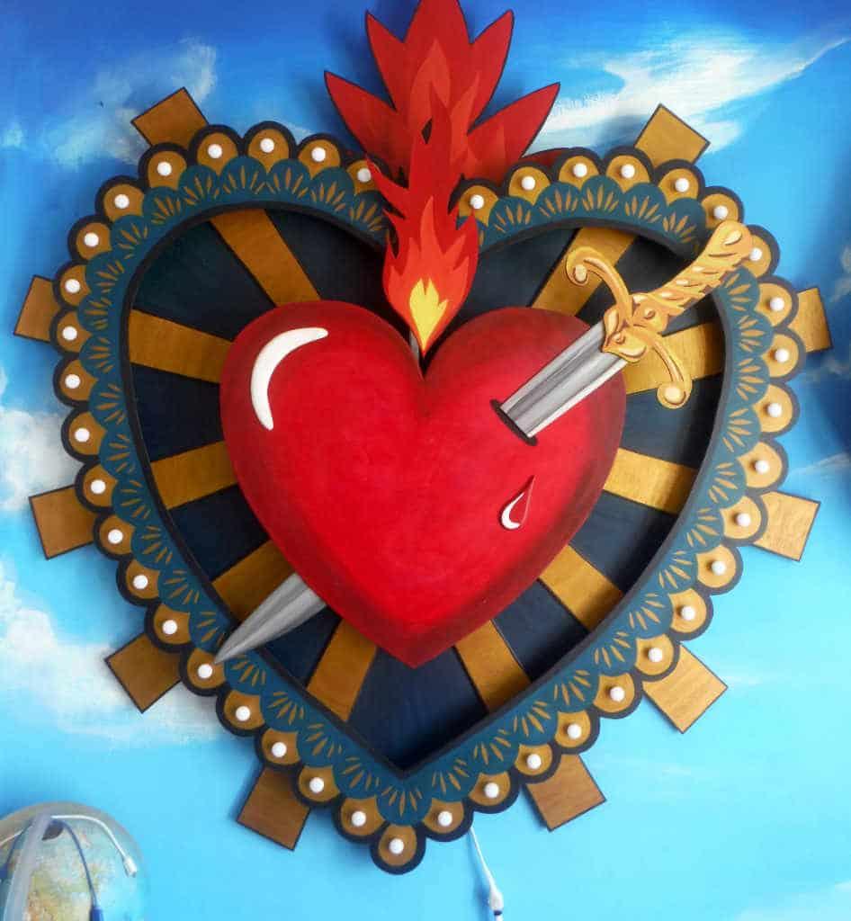 Enseigne Lumineuse Coeur Milagros