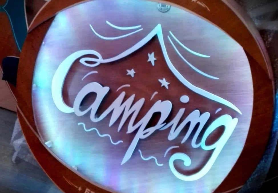 Enseigne Lumineuse Camping