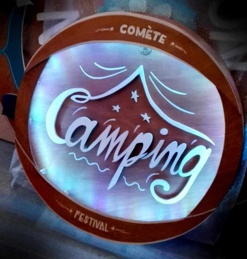 Enseigne Lumineuse Camping