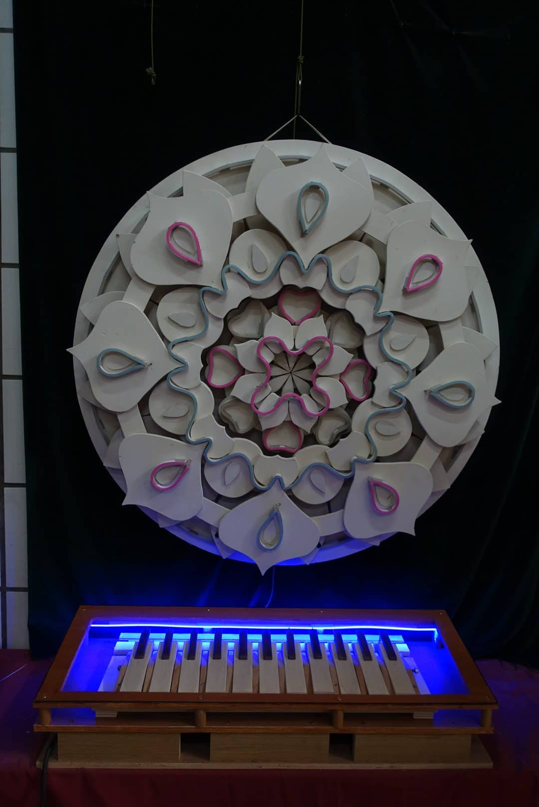 Neon sign sur mesure mandala