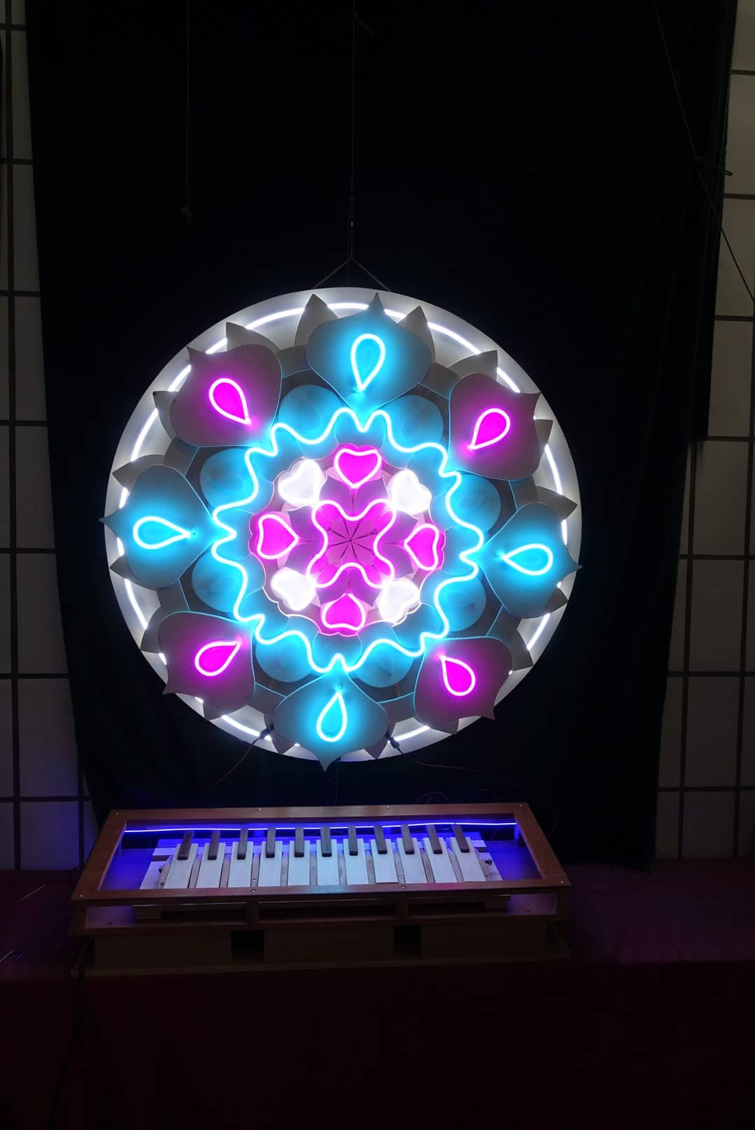 Neon sign sur mesure mandala 3