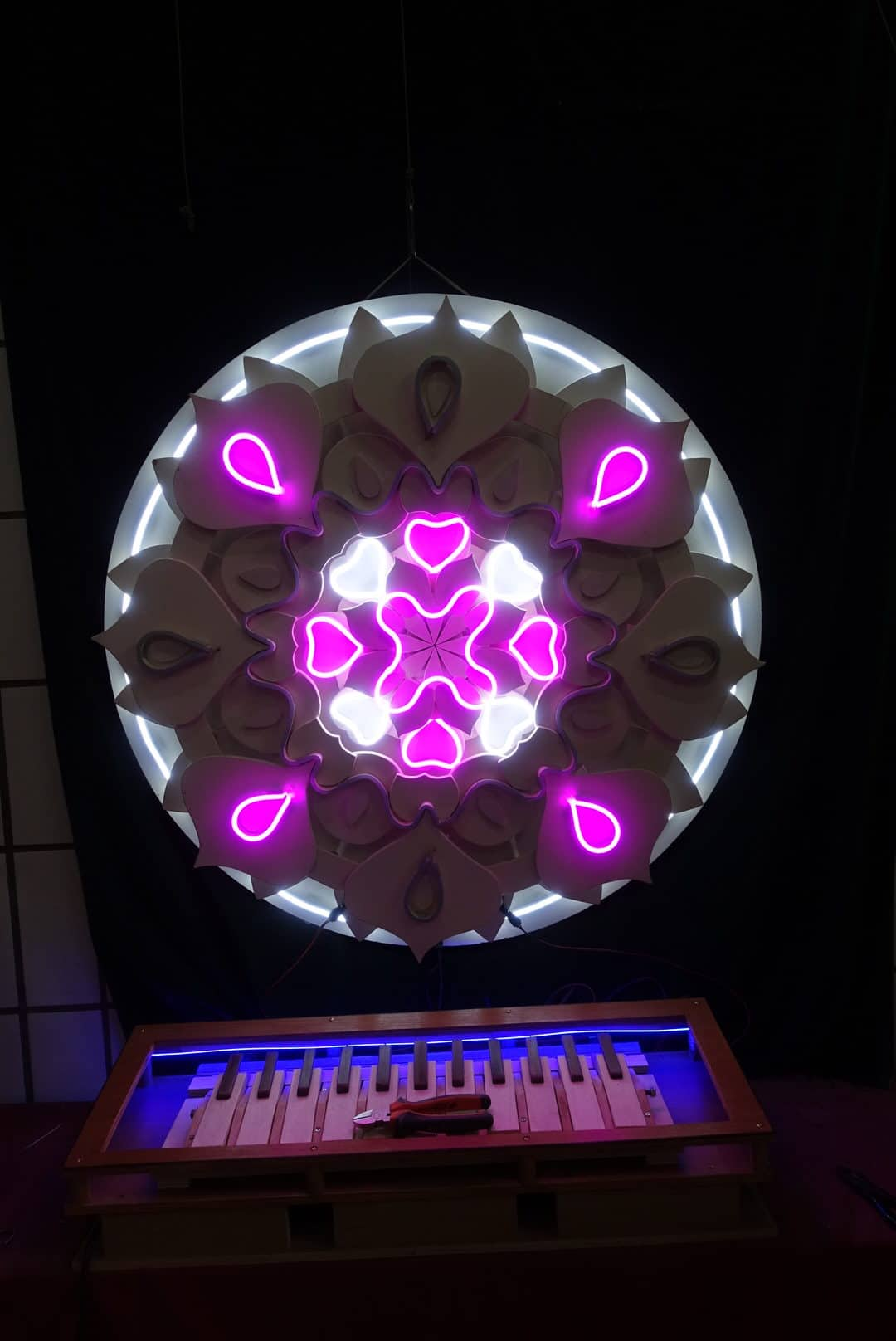 Neon sign sur mesure mandala 6