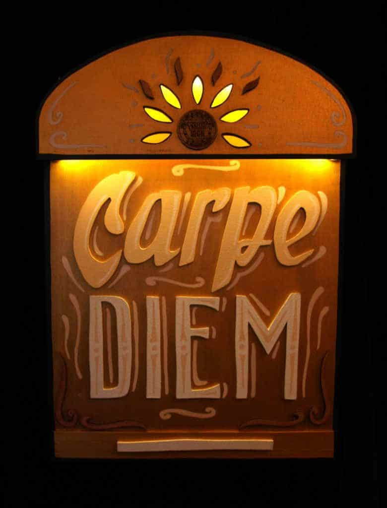 Funkisign Enseigne lumineuse Carpe Diem