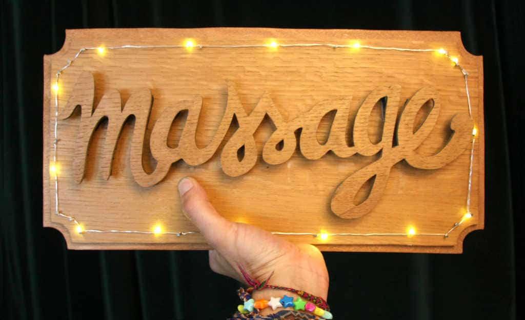 Enseigne Massage