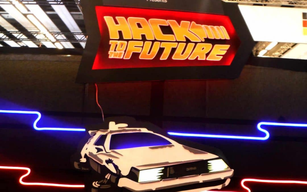 Enseigne Lumineuse Dolorean Hack to the future