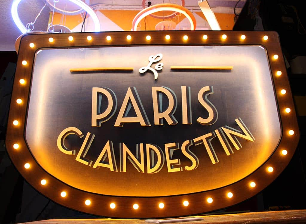 Enseigne Lumineuse Le Paris Clandestin