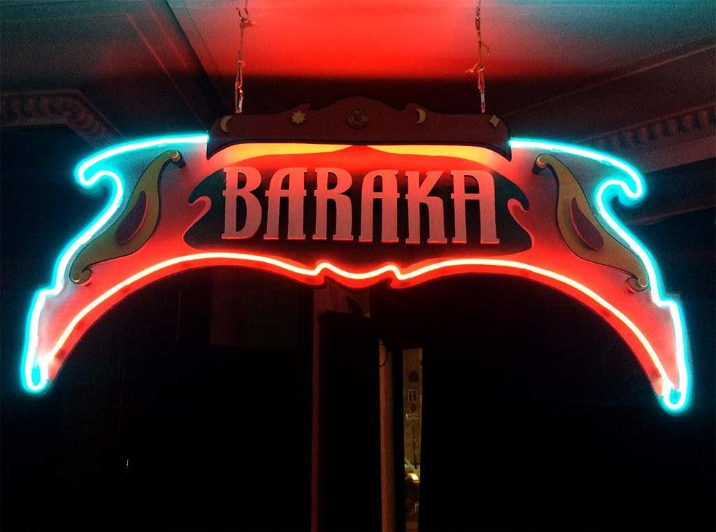 BARAKA FUNKI SIGN :: Enseigne artistique Bois et néon