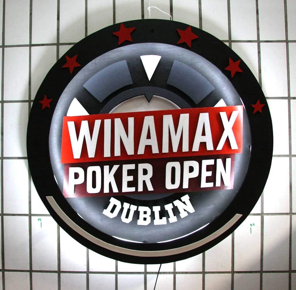 Enseigne Néon Sur Mesure Winamax Poker Open Dublin