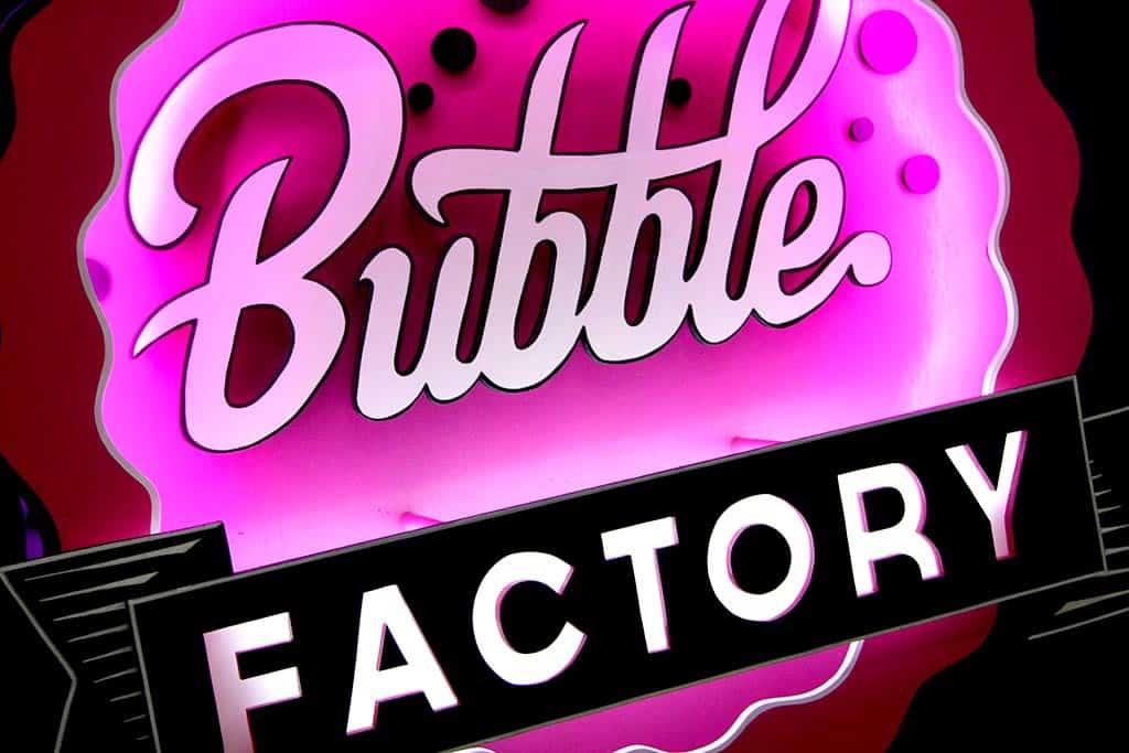Bubble Factory Funki Sign