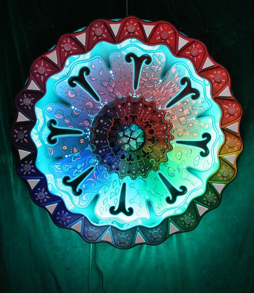 temple des connexions : Mandala chromatique Mexique