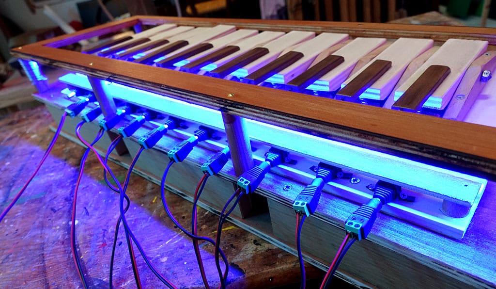 Piano à lumières