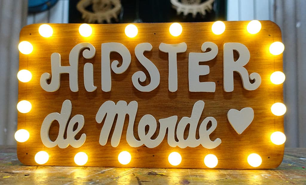 Hipster de merde mini Sign Funki Sign