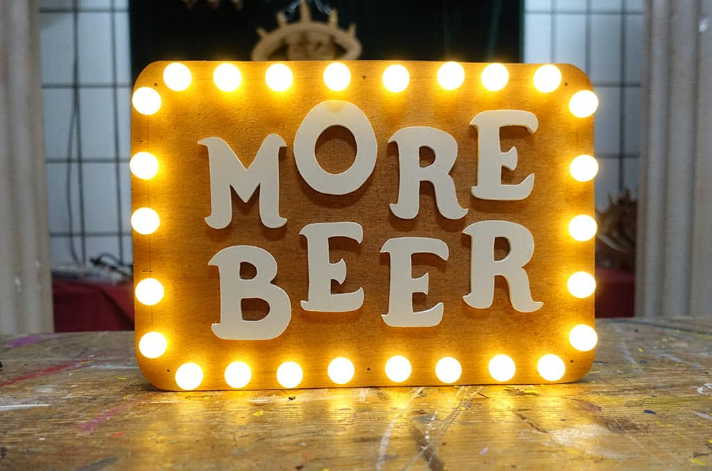 More Beer mini Sign Funki Sign