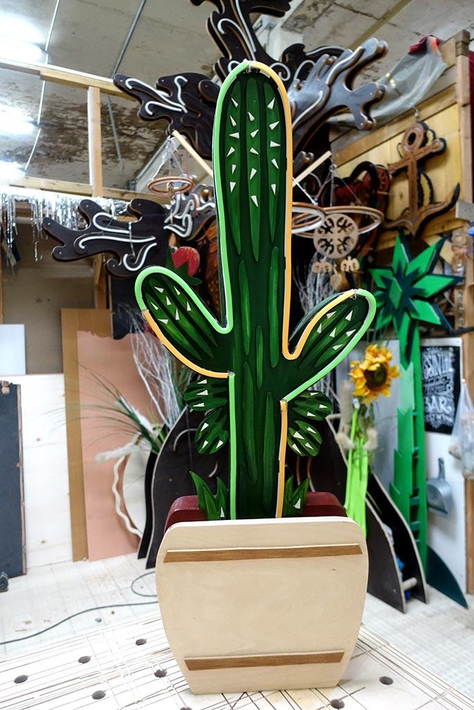 néon sur mesure Cactus 3