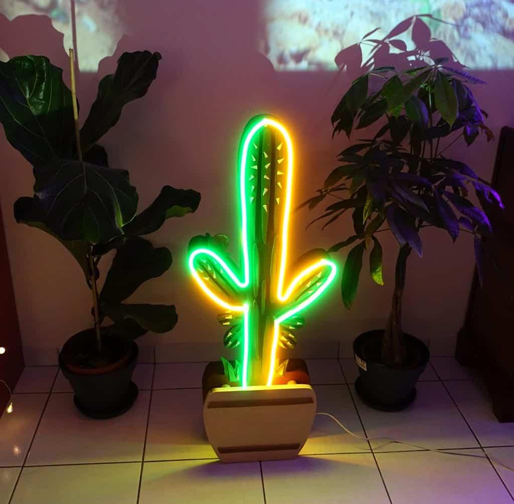 Néon Sur Mesure Cactus Psychédélique