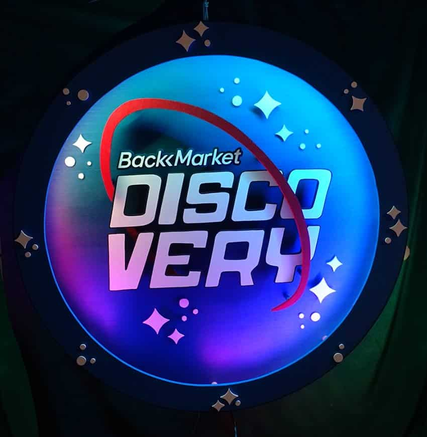 Enseigne sur Mesure Back Market Discovery