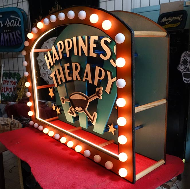 Happiness Therapy Funki Sign
