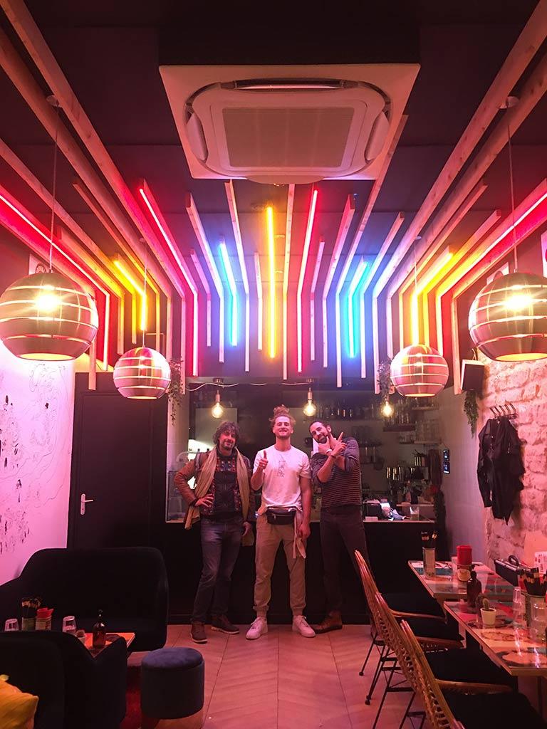 Neon ambiance architecture