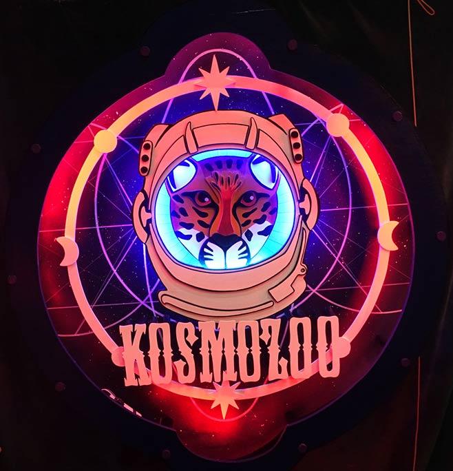 Enseigne Lumineuse Kosmozoo (frere de l'espace)