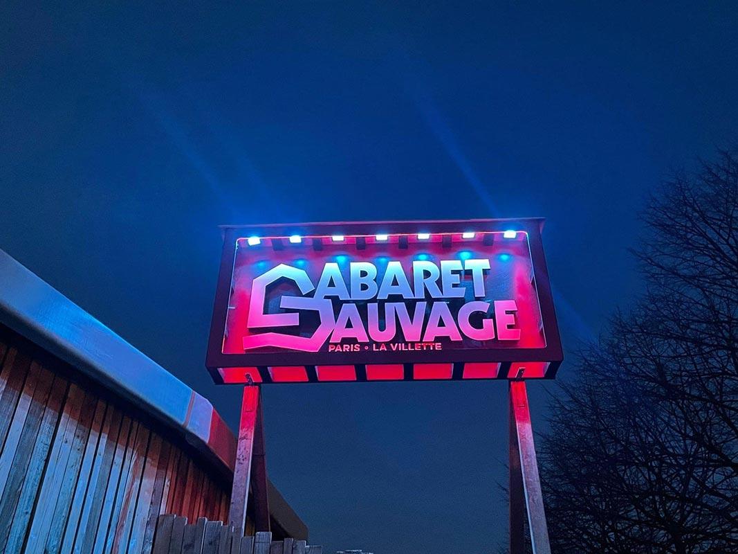 Enseigne néon Cabaret Sauvage Paris