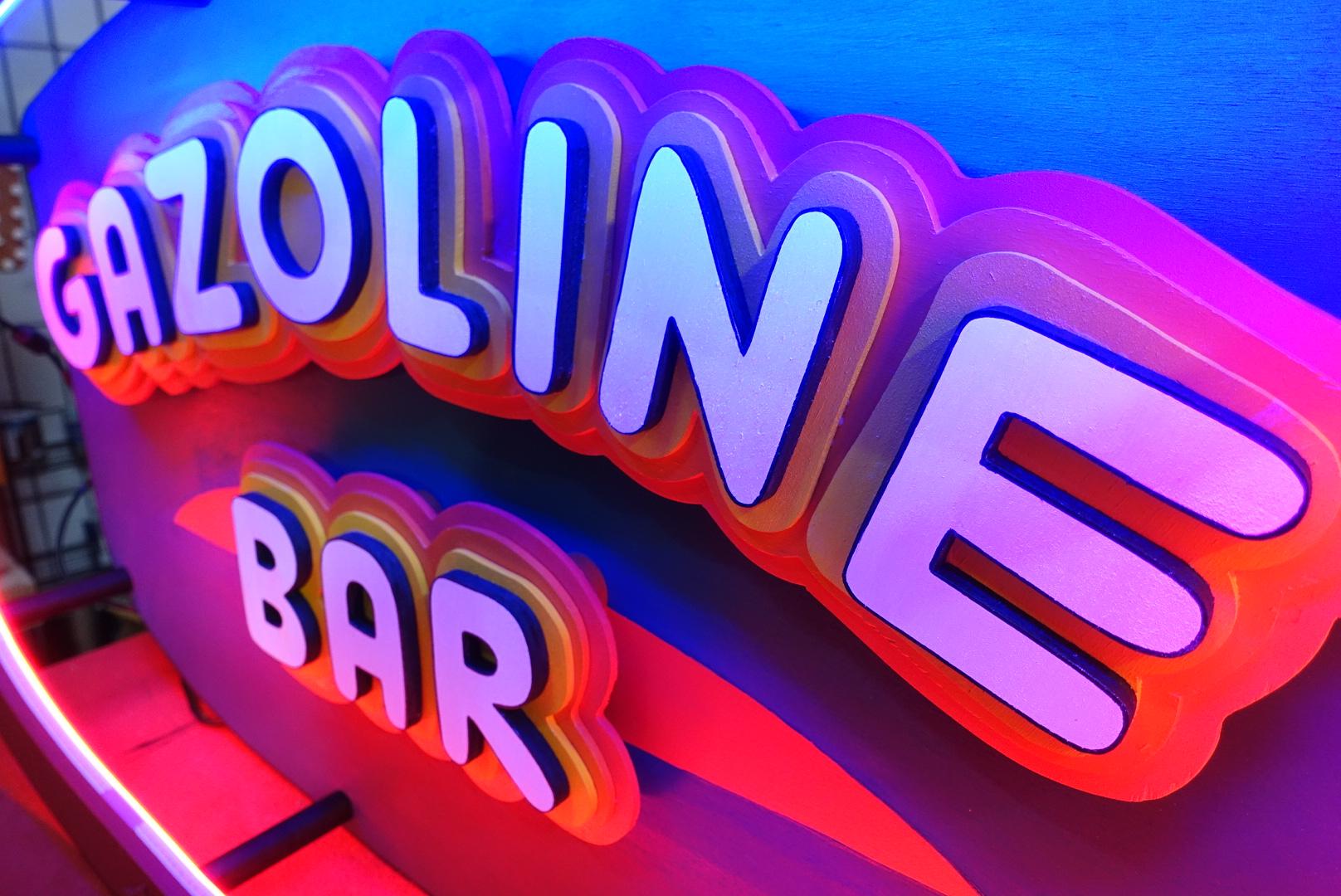 Gazoline Bar Enseigne lumineuse