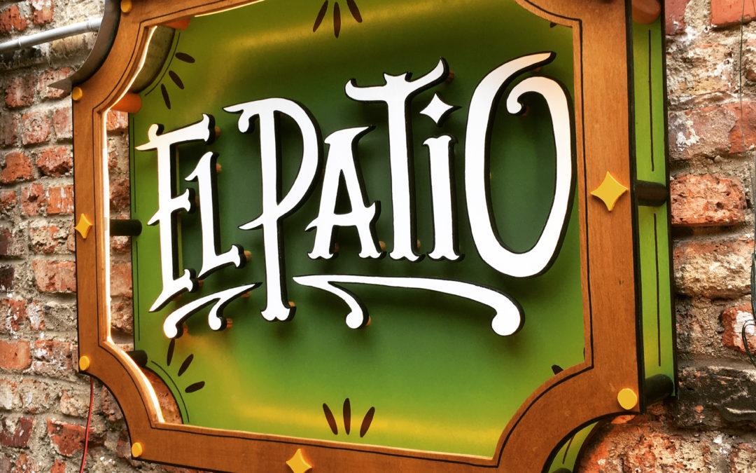 Enseigne neon vintage El Patio